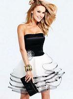 Faviana 6911 Satin Tulle Short Party Dress image
