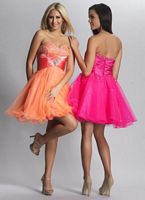 Dave and Johnny 6918 Jeweled Waist Short Party Dress image
