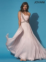Jovani 6919 One Strap Formal Dress image