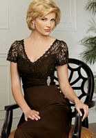 Caterina by Jordan MOB Dress with Empire Lace Bodice 7008 image