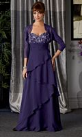 Caterina 7021 Tiered Chiffon Mother of the Bride Dress image