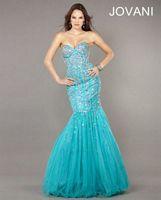 Jovani Beaded Mermaid Evening Dress 7024 image