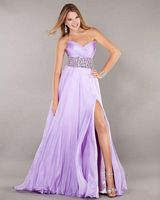 Jovani Strapless Gown with High Slit 7039 image