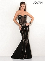 Jovani 7048 Mermaid Dress with Animal Print image