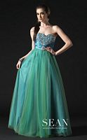 Sean Couture Prom Ball Gown with Detailed Stonework 70581 image
