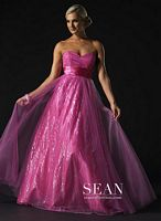 Sean Couture Mini Sequin Prom Ball Gown 70583 image
