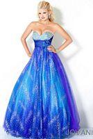 Jovani Purple Long Sequin Prom Dress with Ruffle Hem 706 image