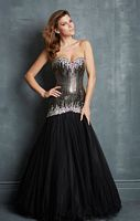Night Moves 7071 Tulle Jeweled Evening Dress image