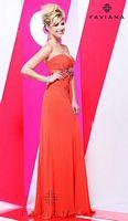 Faviana 7100 Iridescent Chiffon Evening Dress image