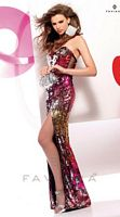 Faviana Sequin and Mesh Formal Dress 7106 image