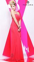 Faviana 7107 Ruched Chiffon Evening Dress image