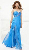 Faviana 7115 Asymmetrical Beaded Evening Dress image