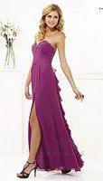 Faviana 7124 Beaded Ruffle Chiffon Gown image