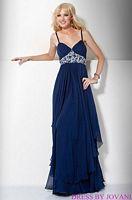 Jovani Ruffle Evening Dress with Embellished Waist 71399 image