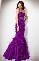 Jovani Chiffon Ruffle Evening Dress 71472 image