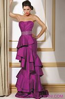 Jovani Tiered Layered Fitted Evening Dress 71548 image