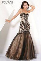 Jovani Black Nude Evening Dress 71617 image