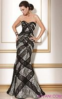 Jovani Black Silver Evening Dress 71786 image