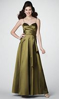 Size 12 Citrine Alfred Angelo Floor Length Bridesmaid Dress 7186 image