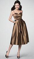 Alfred Angelo Luxe Taffeta Tea Length Bridesmaid Dress 7188 image
