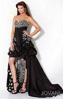 Jovani Ruffle Evening Dress with Print Lining 71917 image