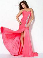 Jovani Ruched Chiffon Mermaid Dress 71996 image