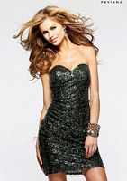 Faviana 7206 Sequin Cocktail Dress image