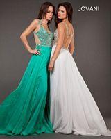 Jovani 7210 Beaded Strap Formal Dress image