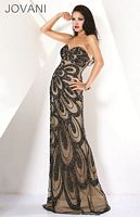 Jovani Black Nude Evening Dress 7211 image