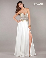 Jovani 7213 Butterfly Beaded Jersey Gown image