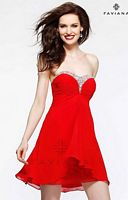 Faviana 7216 Beaded Chiffon Cocktail Dress image