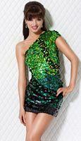 Jovani One Shoulder Sequin Cocktail Dress for Homecoming 7238 image