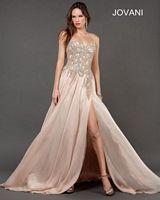 Jovani 72614 Formal Dress with High Slit image