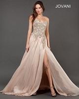 Jovani 72614 Strapped Chiffon Evening Dress image