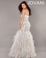 Jovani Tiered Ruffle Evening Gown 72635 image
