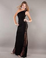 Jovani 72657 One Shoulder Jersey Formal Dress image
