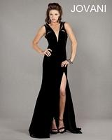 Jovani 727 Velvet Formal Dress image