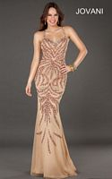 Jovani 72710 Beaded Fitted Gown image