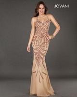 Jovani 72710 Beaded Print Jersey Formal Dress image