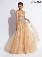 Jovani 72712 Tulle A-Line Formal Dress image
