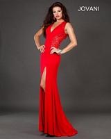 Jovani 72716 Lace Panel Jersey Formal Dress image