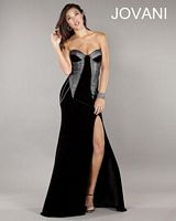 Jovani 729 Formal Dress with High Slit image