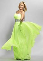 Size 6 Pink Dave and Johnny 7301 One Strap Formal Dress image