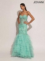 Jovani 73026 Tiered Tulle Gown image