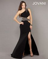Jovani One Shoulder Evening Dress with Cutout 73033 image