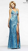 Faviana 7308 Animal Print Sequin Gown image