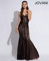 Jovani 73081 Exposed Waist Mermaid Dress image