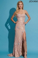 Jovani 73118 Lace Corset Formal Dress image