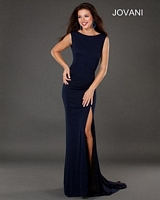Jovani 73144 Jersey Gown with Sheer Panels image