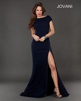 Jovani 73150 Short Sleeve Jersey Formal Dress image